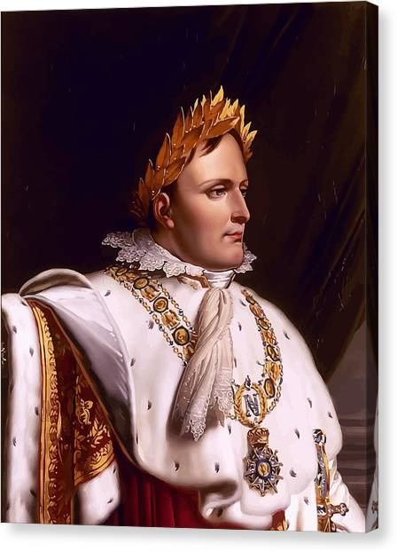 Military Canvas Print - Emperor Napoleon Bonaparte  by War Is Hell Store