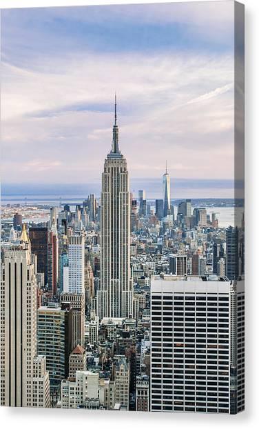 Empire State Building Canvas Print - Emperor's Castle by Az Jackson
