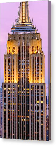 Empire State Building Canvas Print - Emperor's Light Show by Az Jackson
