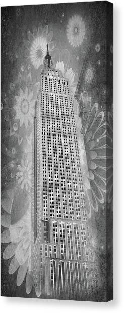 Canvas Print featuring the photograph Empire State Building by Angie Tirado