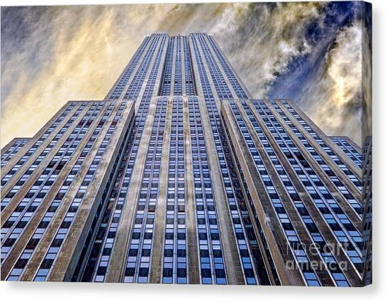 Central Park Canvas Print - Empire State Building  by John Farnan
