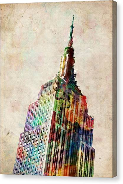 New York City Canvas Print - Empire State Building by Michael Tompsett