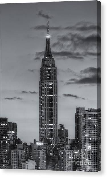 Central Park Canvas Print - Empire State Building Morning Twilight Iv by Clarence Holmes