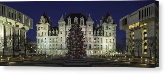 Empire State Plaza Holiday Canvas Print