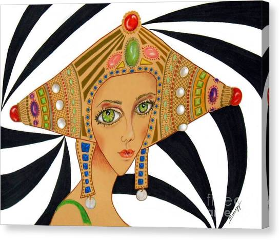 Empress Exotica -- Whimsical Exotic Woman Canvas Print