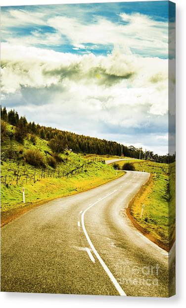 Countryside Canvas Print - Empty Asphalt Road In Countryside by Jorgo Photography - Wall Art Gallery