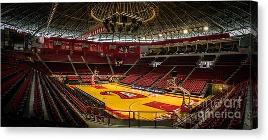 Western Kentucky University Wku Hilltoppers Canvas Print - Empty Court by Jeff Sebaugh