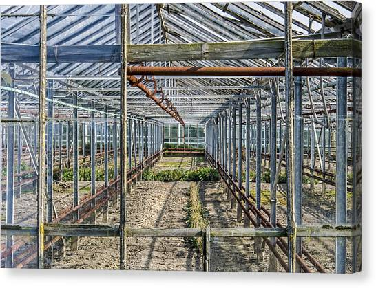 Empty Greenhouse Canvas Print
