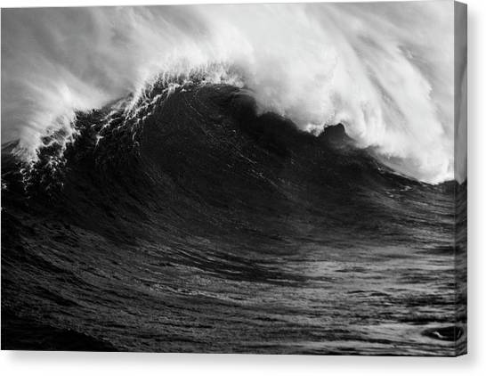 Empty Jaws Black And White Canvas Print