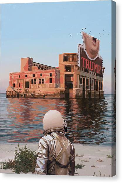 Astronauts Canvas Print - Empty Palace by Scott Listfield