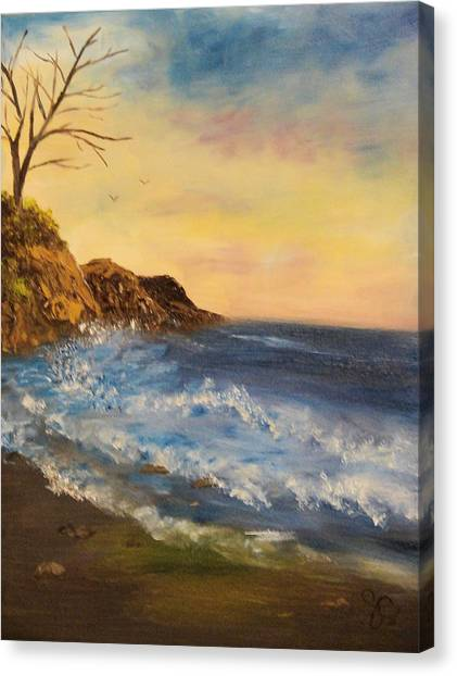 Empty Shore Canvas Print by Shiana Canatella