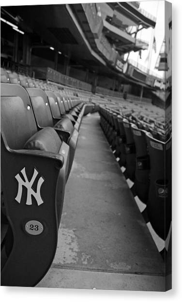 Derek Jeter Canvas Print - Empty Stadium by Michael Albright