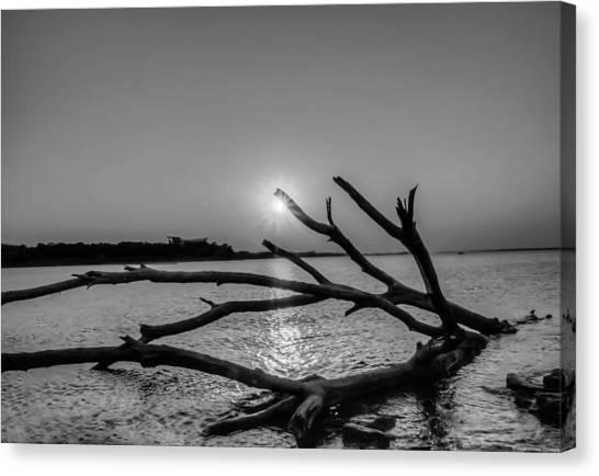 Lake Sunsets Canvas Print - Empty Sunset by Dado Molina