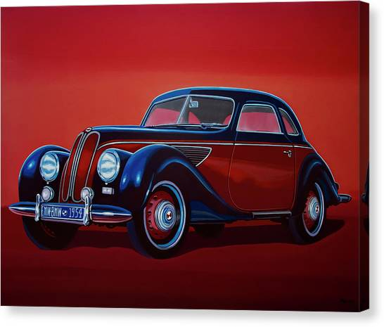 Formula Car Canvas Print - Emw Bmw 1951 Painting by Paul Meijering