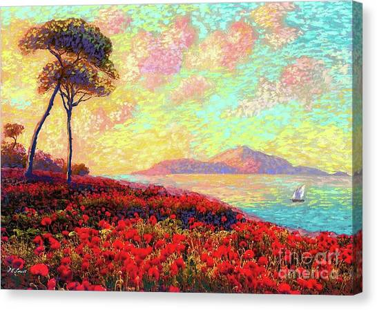 Coastal Art Canvas Print - Enchanted By Poppies by Jane Small