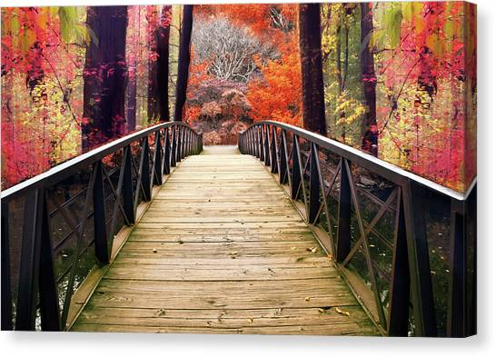 Canvas Print featuring the photograph Enchanted Crossing by Jessica Jenney