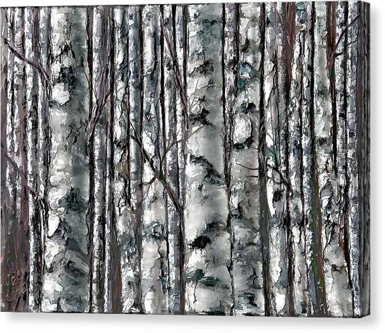 Enchanted Forest -black And White Canvas Print