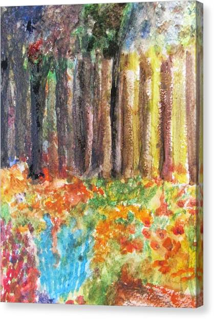 Enchanted Woods Canvas Print by Trilby Cole