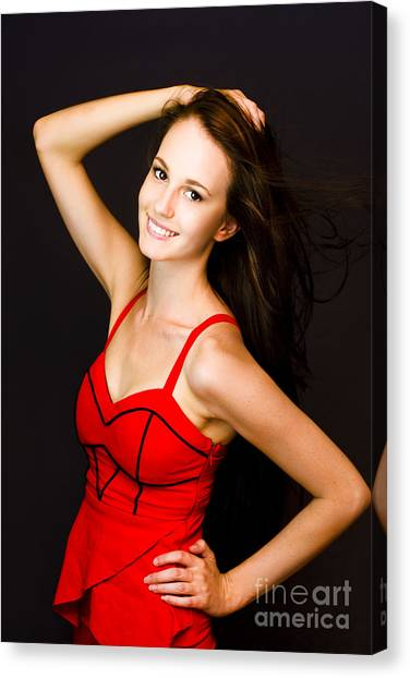 Accomplish Canvas Print - Enchanting Lively Woman by Jorgo Photography - Wall Art Gallery