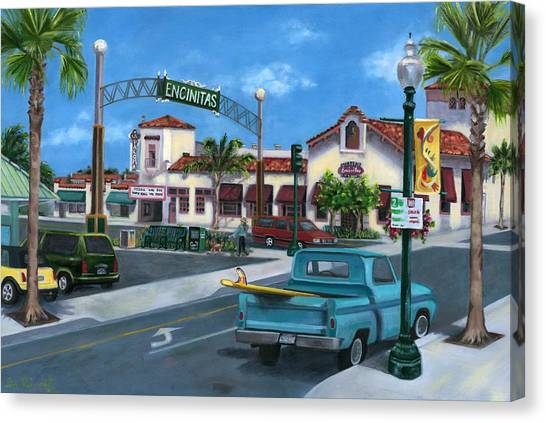 Encinitas Dreaming Canvas Print by Lisa Reinhardt