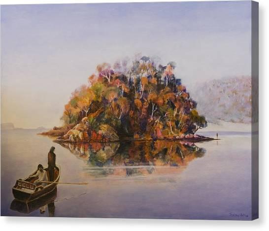 Encounter At Wineglass Bay Canvas Print