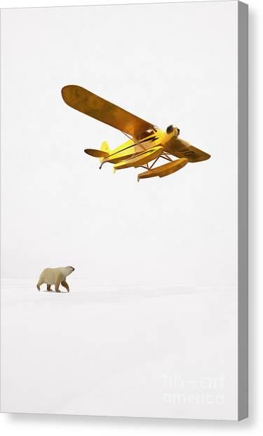 Seaplanes Canvas Print - Encounter In Alaska by Edward Fielding