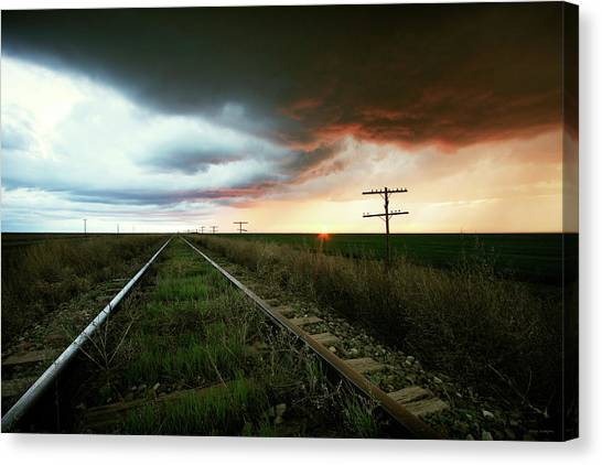 End Of A Stormy Day Canvas Print