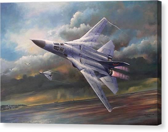'end Of An Era' F111 Qld Final Flight Canvas Print
