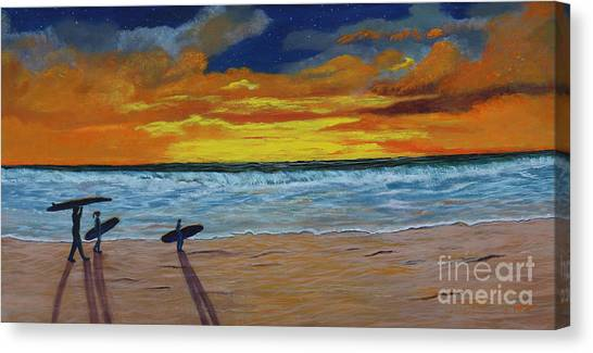 End Of Day Canvas Print