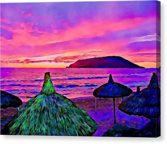 End Of The Beach Day In Mazatlan Canvas Print
