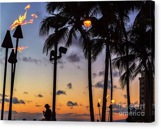 End Of The Beutiful Day.hawaii Canvas Print