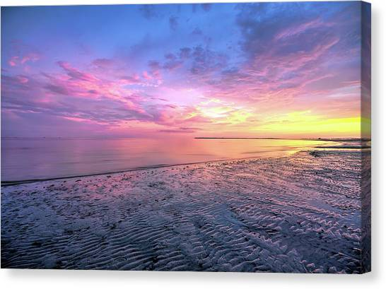 End Of The Day. Canvas Print