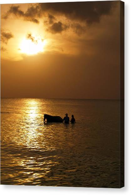 End Of The Day Canvas Print by Linda Morland