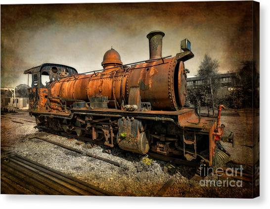 Steam Trains Canvas Print - End Of The Line by Adrian Evans