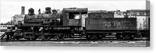 Trainspotting Canvas Print - End Of The Line In Black And White by Enzwell