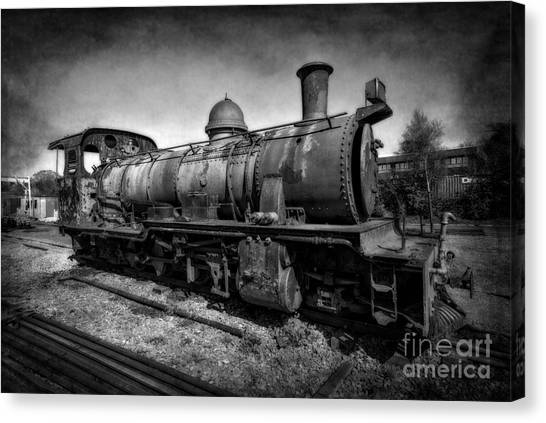 Steam Trains Canvas Print - End Of The Line V2 by Adrian Evans