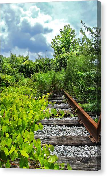 End Of The Tracks Canvas Print