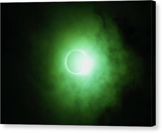 End Of Totality Canvas Print