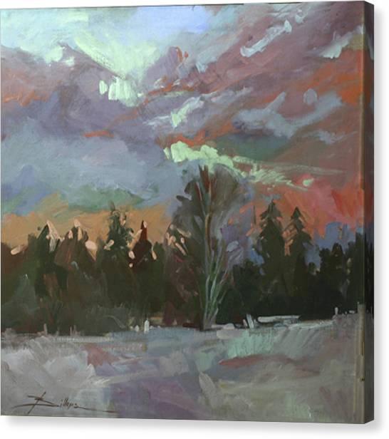 Winter's Last Flame Canvas Print