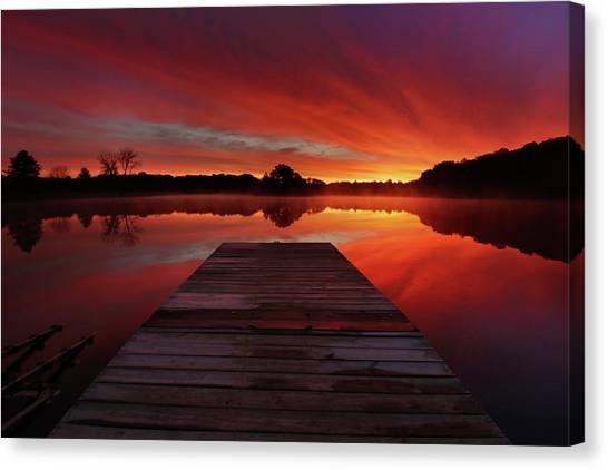 Lake Sunrises Canvas Print - Endless Possibilities by Rob Blair