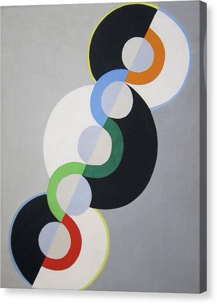 Lyrical Abstraction Canvas Print - Endless Rhythm by Robert Delaunay