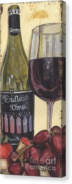 Winery Canvas Print - Endless Vine Panel by Debbie DeWitt
