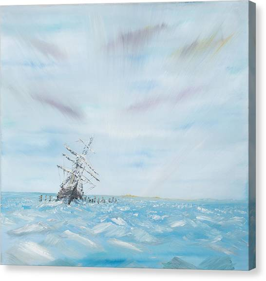 Antarctica Canvas Print - Endurance Trapped By The Antarctic Ice by Vincent Alexander Booth