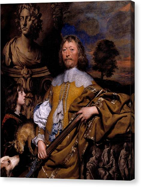 Statue Portrait Canvas Print - Endymion Porter by William Dobson
