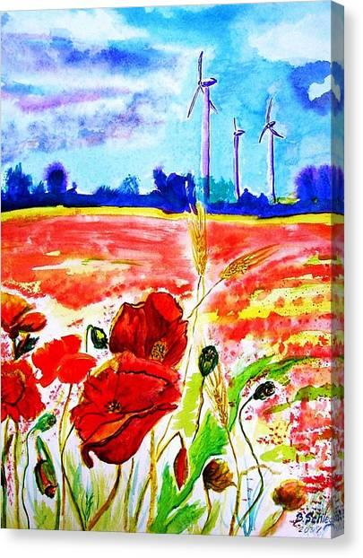 Energie Canvas Print by Birgit Schlegel
