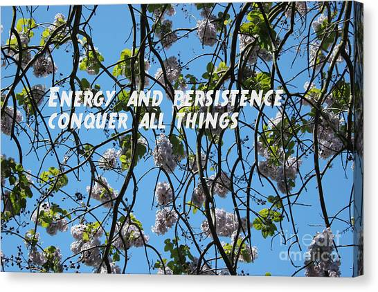 Canvas Print featuring the mixed media Energy And Persistence by Wilko Van de Kamp