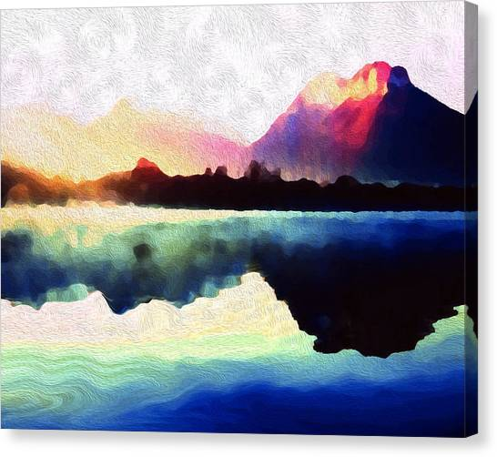 Energy Flow Canvas Print