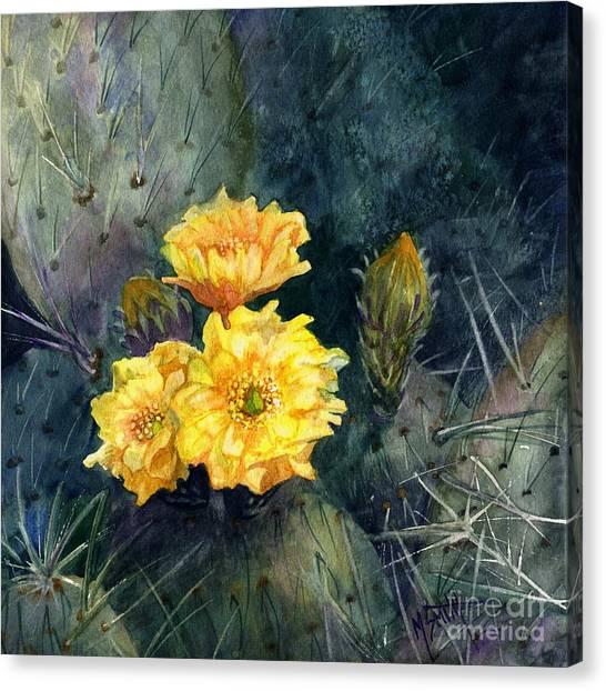 Engelmann Prickly Pear Cactus Canvas Print