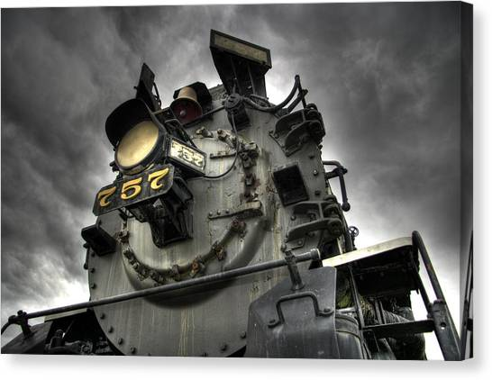 Trains Canvas Print - Engine 757 by Scott Wyatt