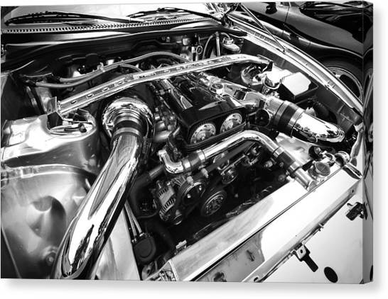 Toyota Canvas Print - Engine Bay by Eric Gendron